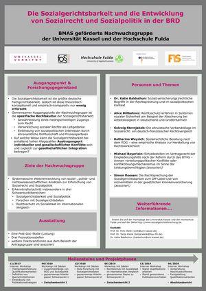 Poster: Die Sozialgerichtsbarkeit und die Entwicklung von Sozialrecht und Sozialpolitik in der BRD