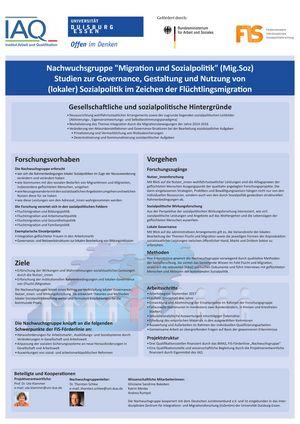 """Poster: Nachwuchsgruppe """"Migration und Sozialpolitik"""""""