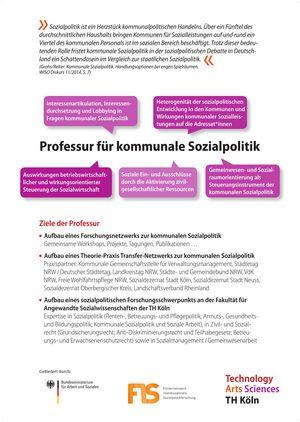 Poster: Professur für kommunale Sozialpolitik